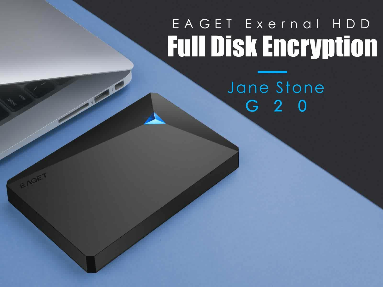 Disco duro externo HDD para PC EAGET G20 de 2,5 pulgadas y 500GB de alta velocidad USB3.0 a prueba de golpes