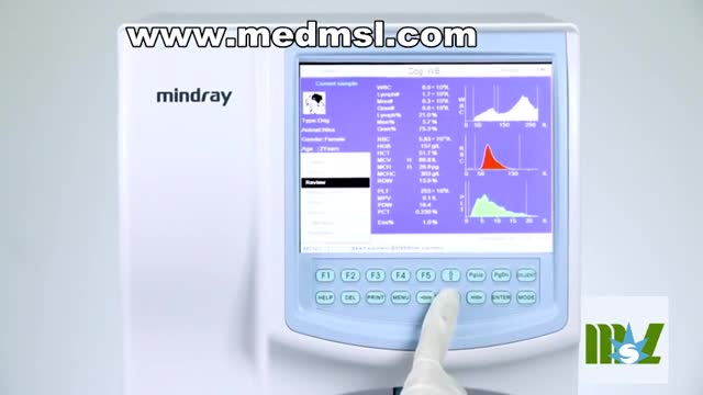 Mindray BC-2800 Vet fully automatic hematology analyzer with 19 parameters for CBC testing and micro sampling technology