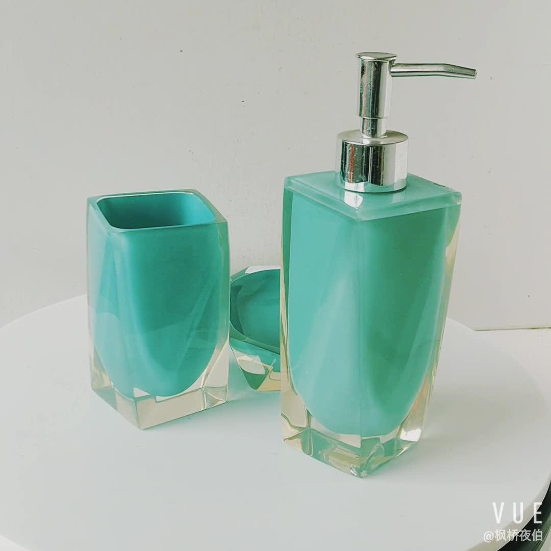 Resin Bathroom Accessories Bathroom Sets Soap Dish Lotion Dispenser Tooth Brush Holder