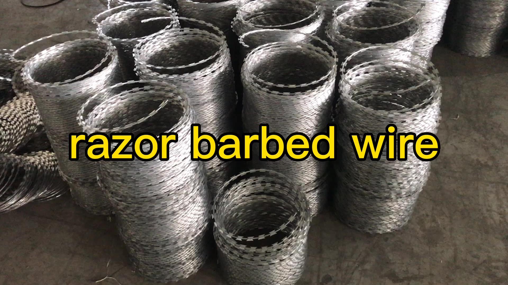 galvanized concertina razor wire bto22
