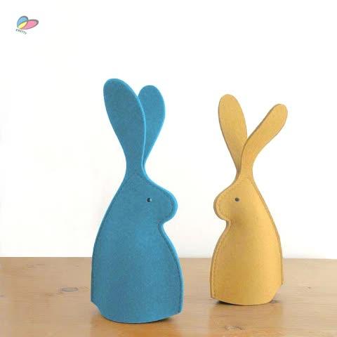 Gran tamaño Bunny huevo caliente de fieltro de Pascua huevo Decoración