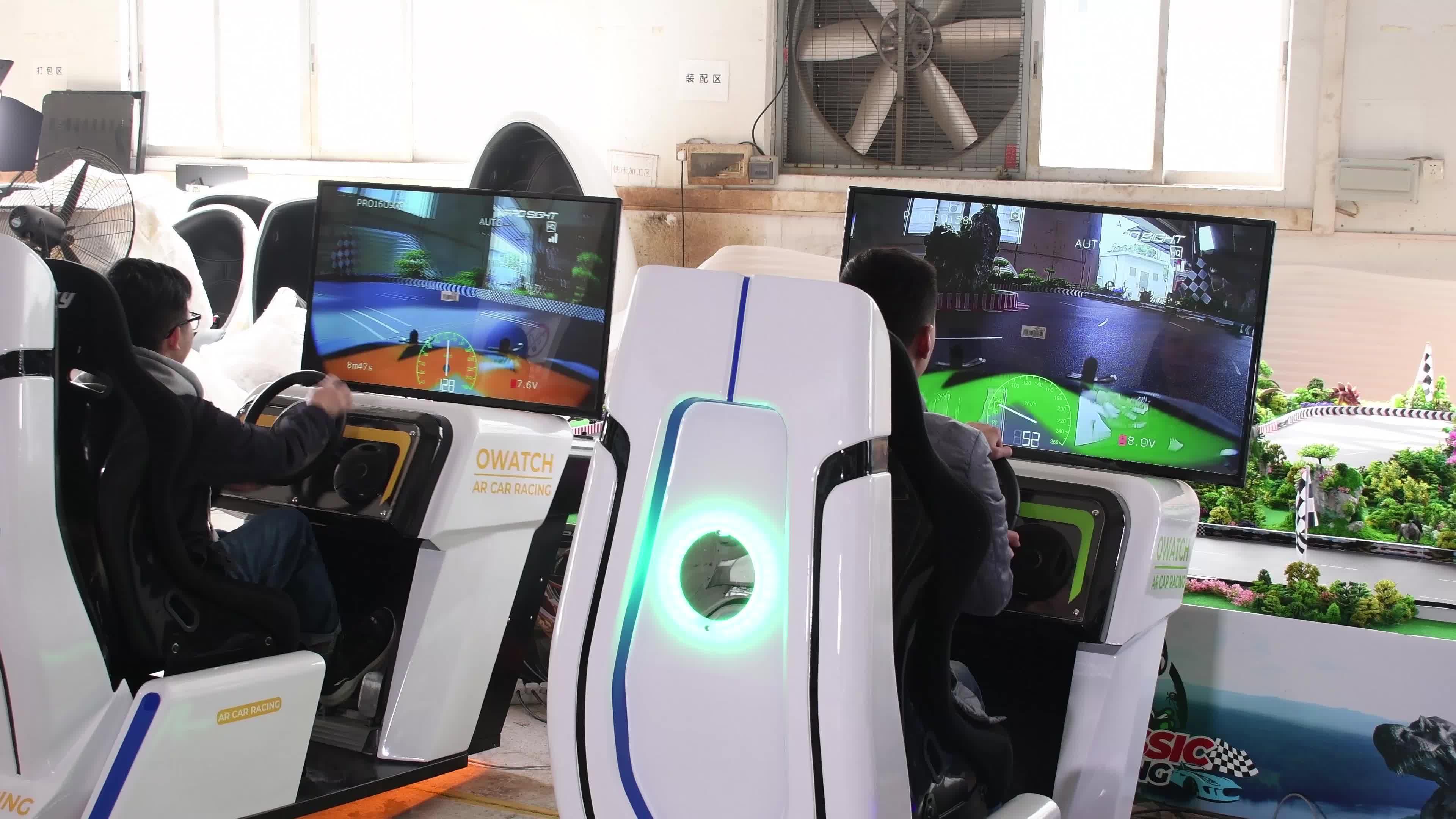 Hot bán AR đua điện tử xe trò chơi máy, tăng cường thực tế trò chơi cho công viên chủ đề vui chơi giải trí công viên trò chơi trung tâm