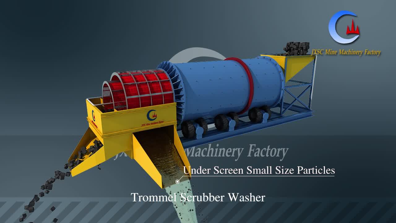 Gran capacidad de Río de Oro fino polvo máquina de lavado de tambor giratorio depurador trómel de oro