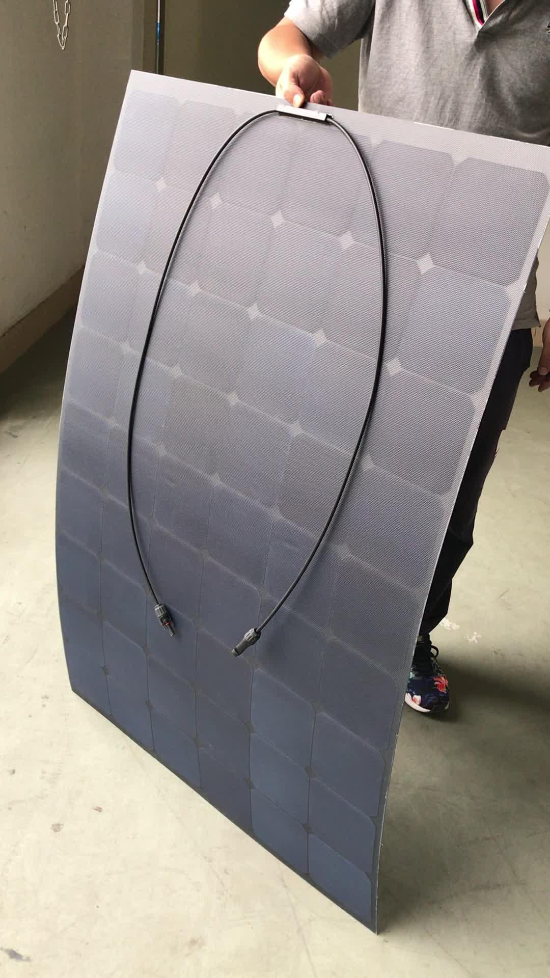 (Разработанно специально для заказчика)/поо (производство оригинального Кемпинг RV использования SunPower солнечных батарей ЭТФЭ/ПЭТ 12V 24V 200 Вт semi Гибкая солнечная батарея по оптовочной ценеоп