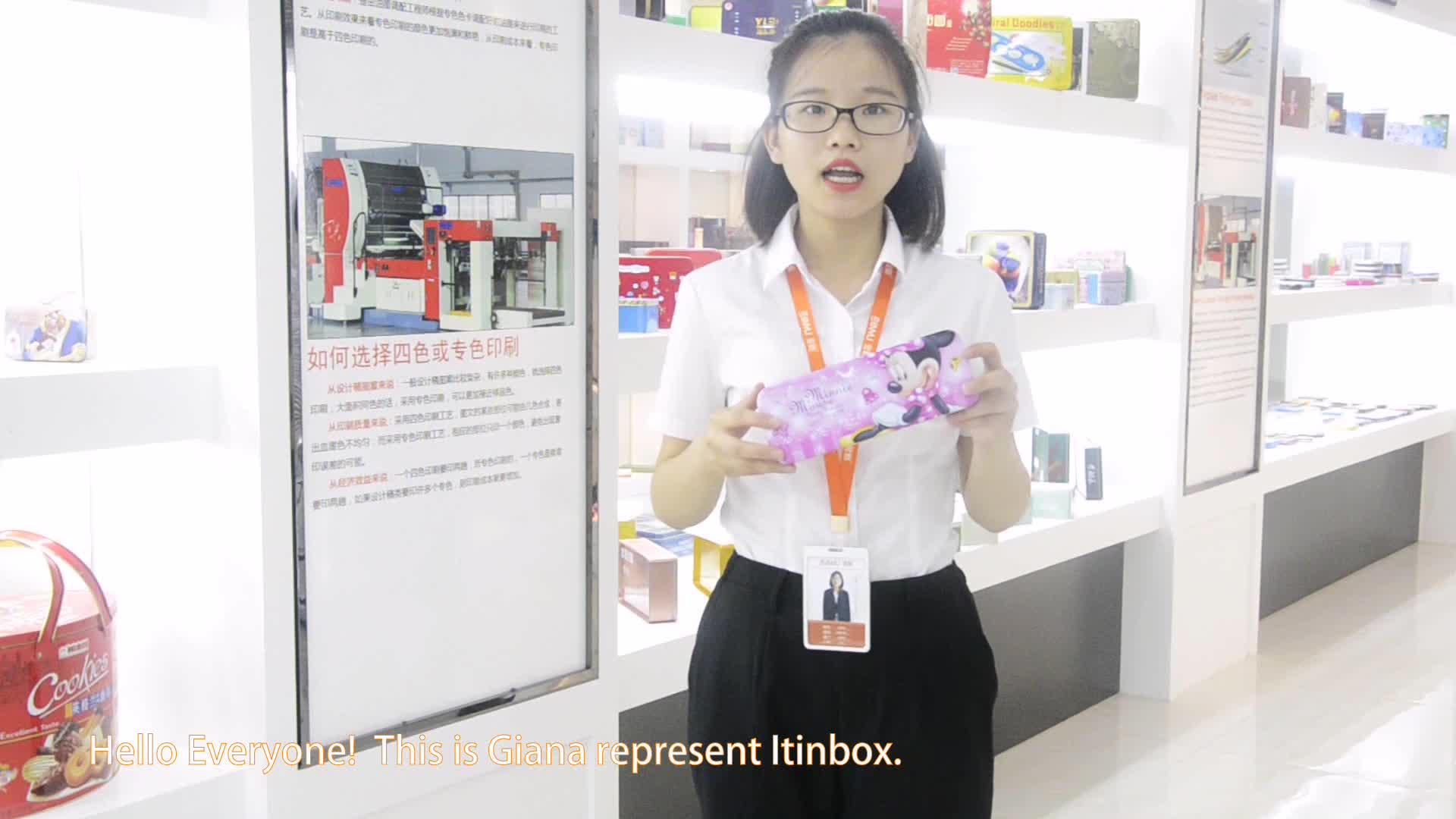 Itinbox คุณภาพสูงผู้ถือปากกาขายส่งพิมพ์กล่องดินสอโรงเรียนที่กำหนดเองดินสอผู้ผลิต