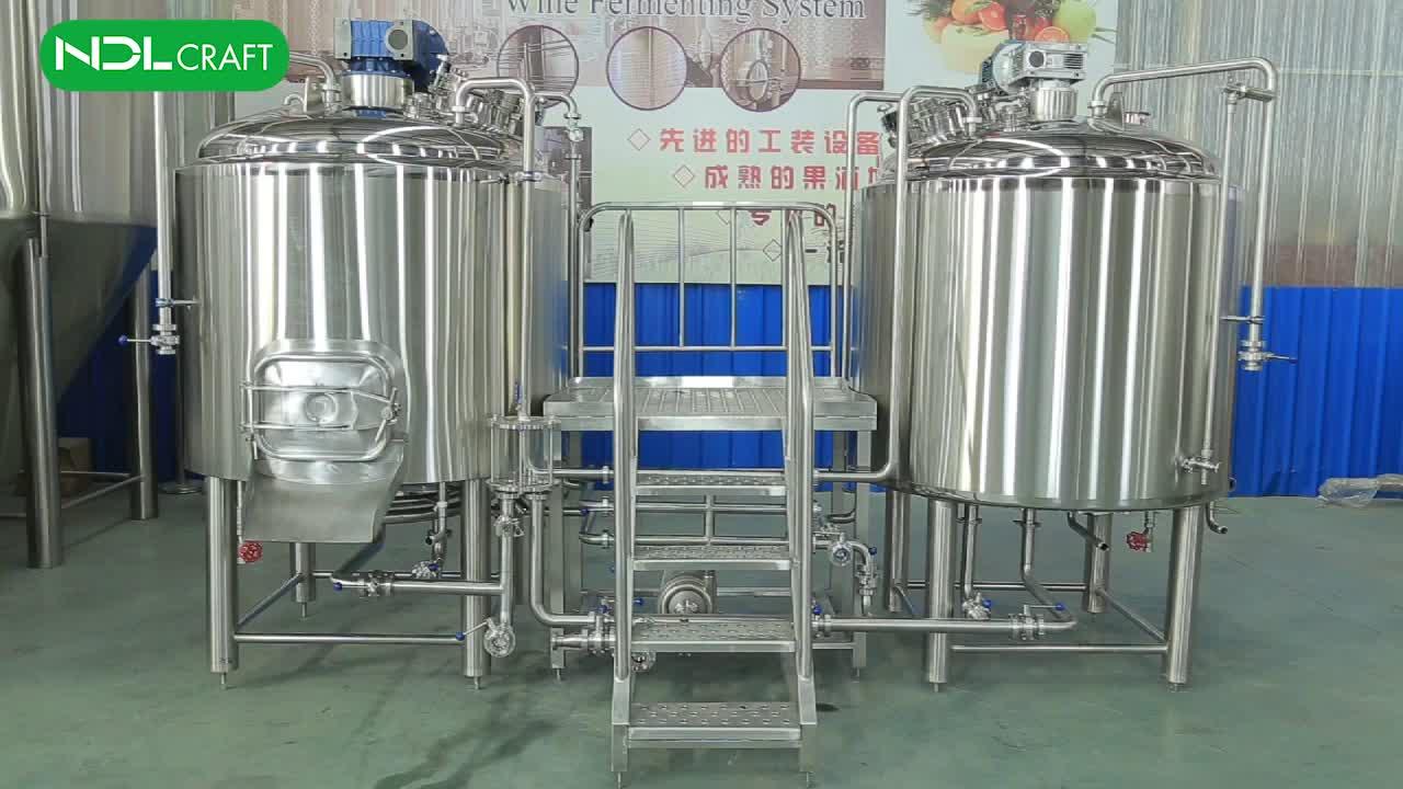 1000l Ticari bira mayalama ekipmanı Buhar Ceket Demlemek Su Isıtıcısı
