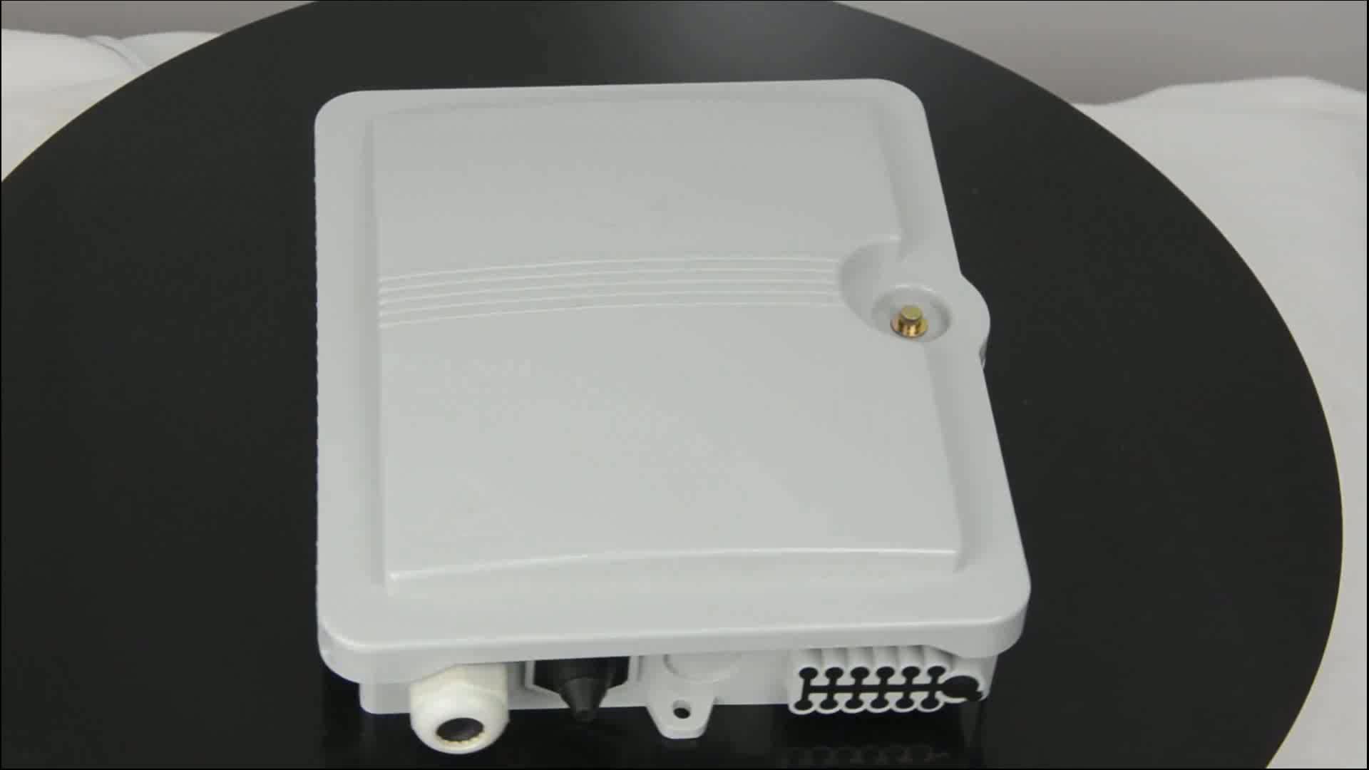 Caja de terminales de empalme de fibra óptica divisor IP 65 FTTH de 12 núcleos/puerto para exteriores