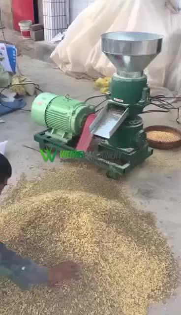 Flat die 150-300 kilograms per hour cattle poultry small feed pellet mill machine for sale