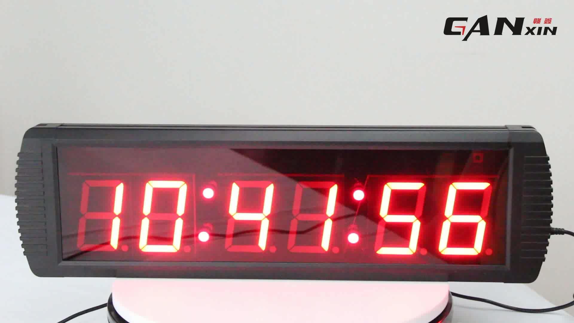 """4"""" 6 digits GYM led clock"""