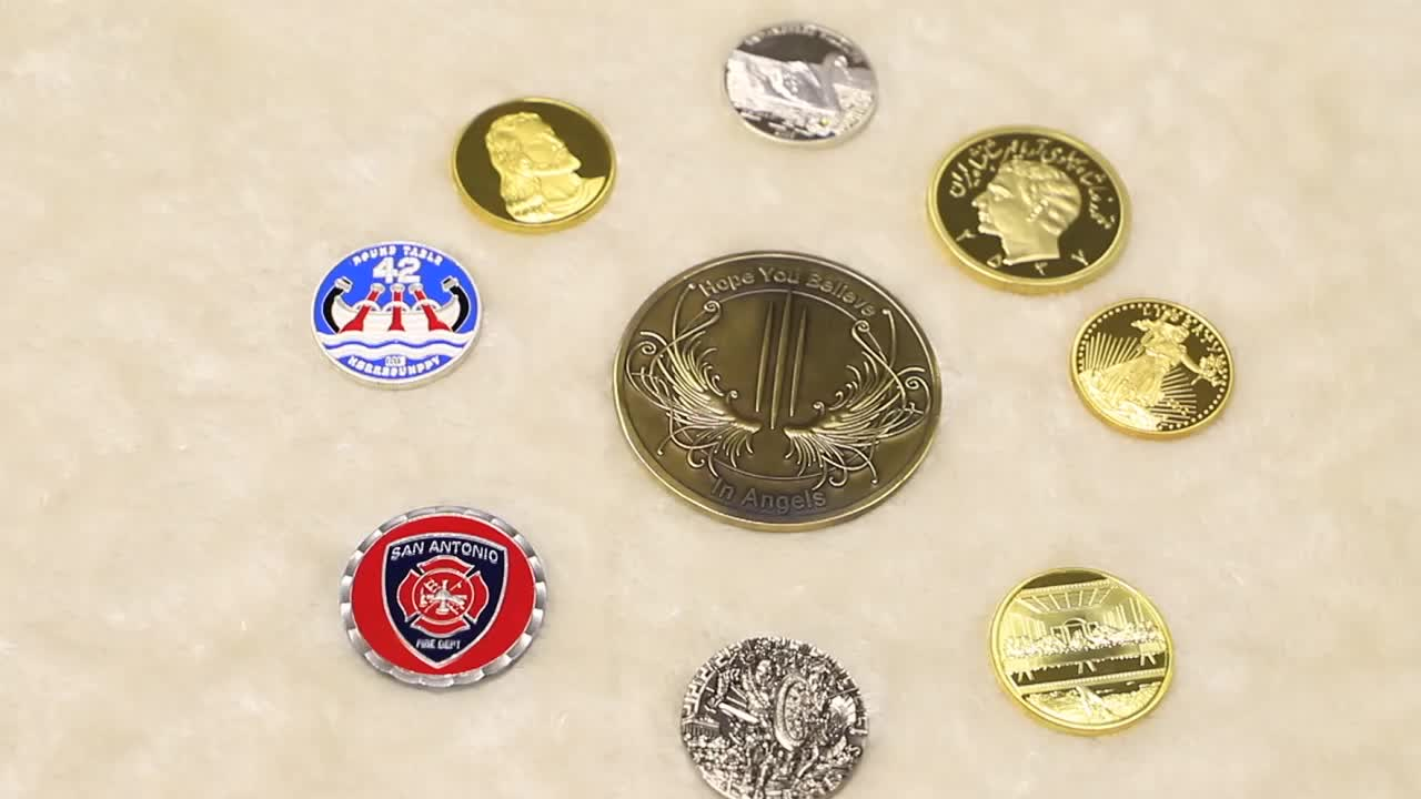 Unique products OEM/ODM business gift souvenir 3D gold plated hydraulic iron raw material custom coins