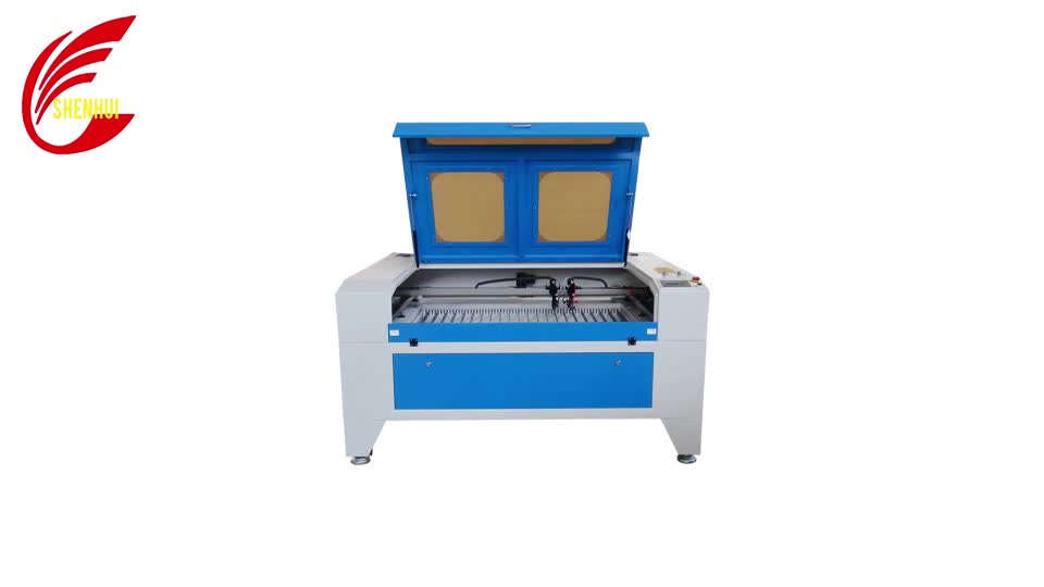 SH-1290 co2 machine laser cutting for leather fabric cloth cutting