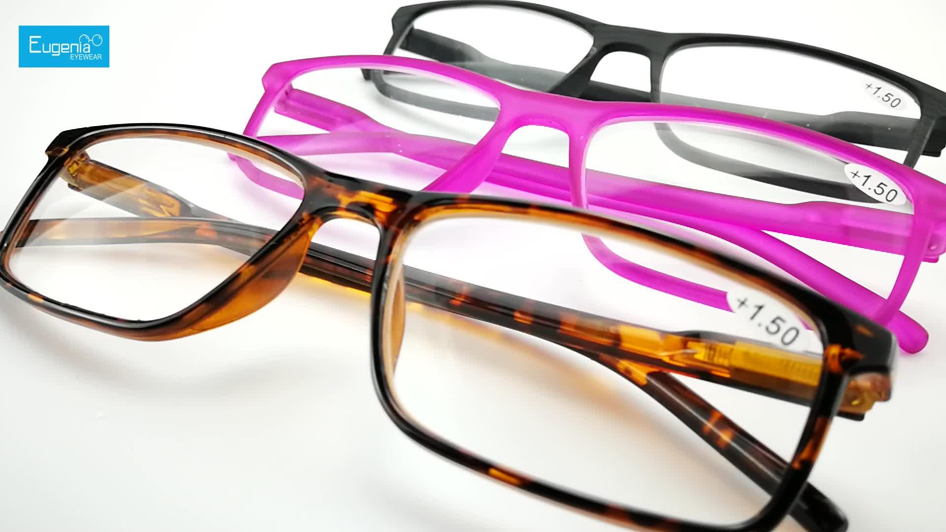EUGENIA 여러 색상 높은 표준 품질 고무 커버 멀티 컬러 gafas de lectura 독서 안경