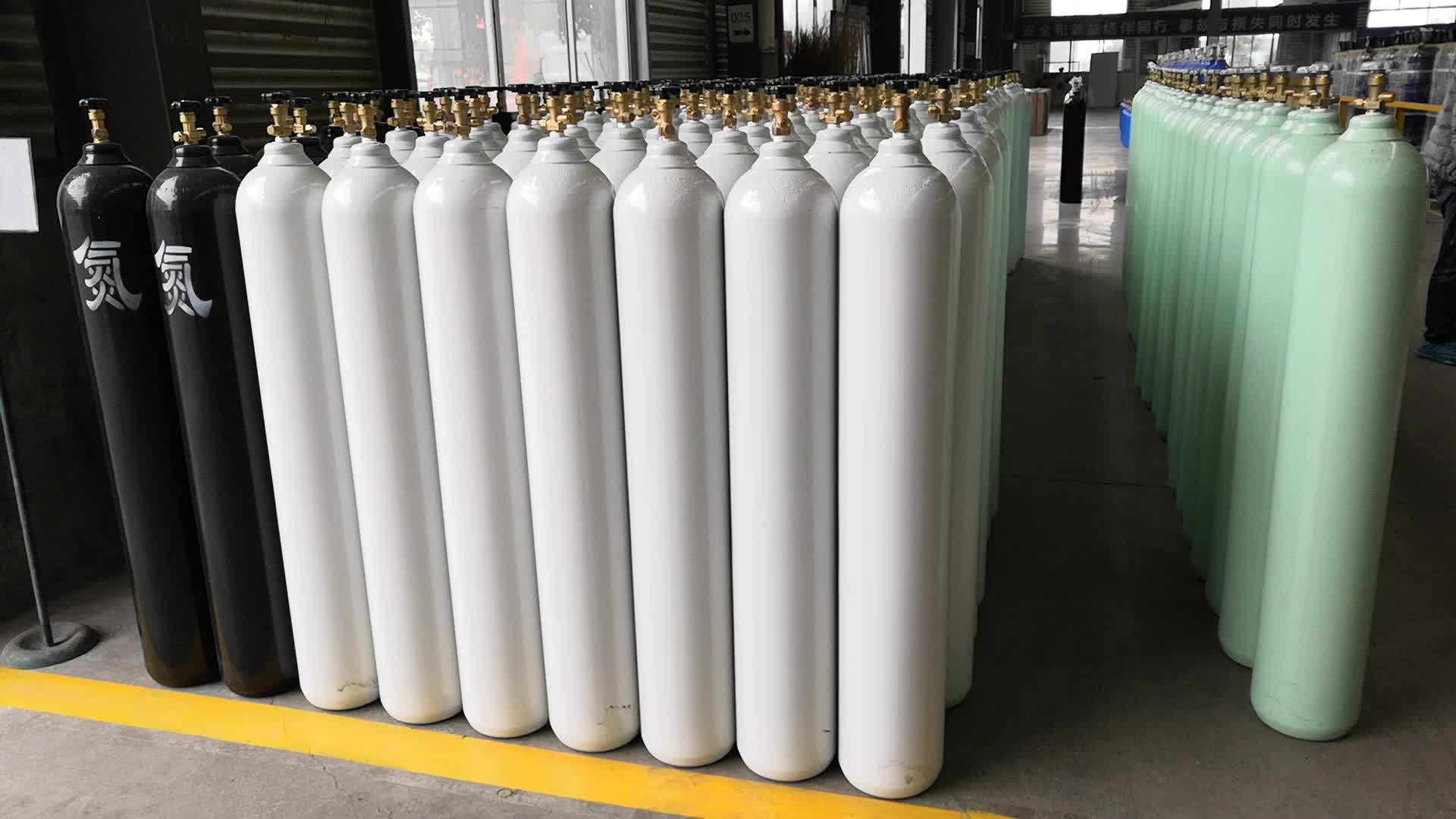 Yüksek Basınçlı 200Bar 47L Kapasiteli nitrojen gazı tüpü Fiyat
