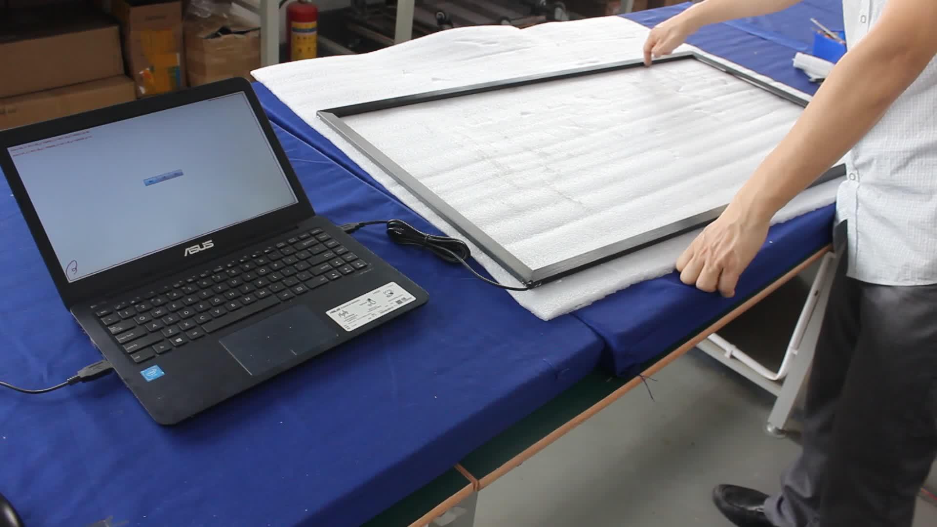 32 inç Açık Parlama önleyici Çift Dokunmatik Ekran Açık Çerçeve