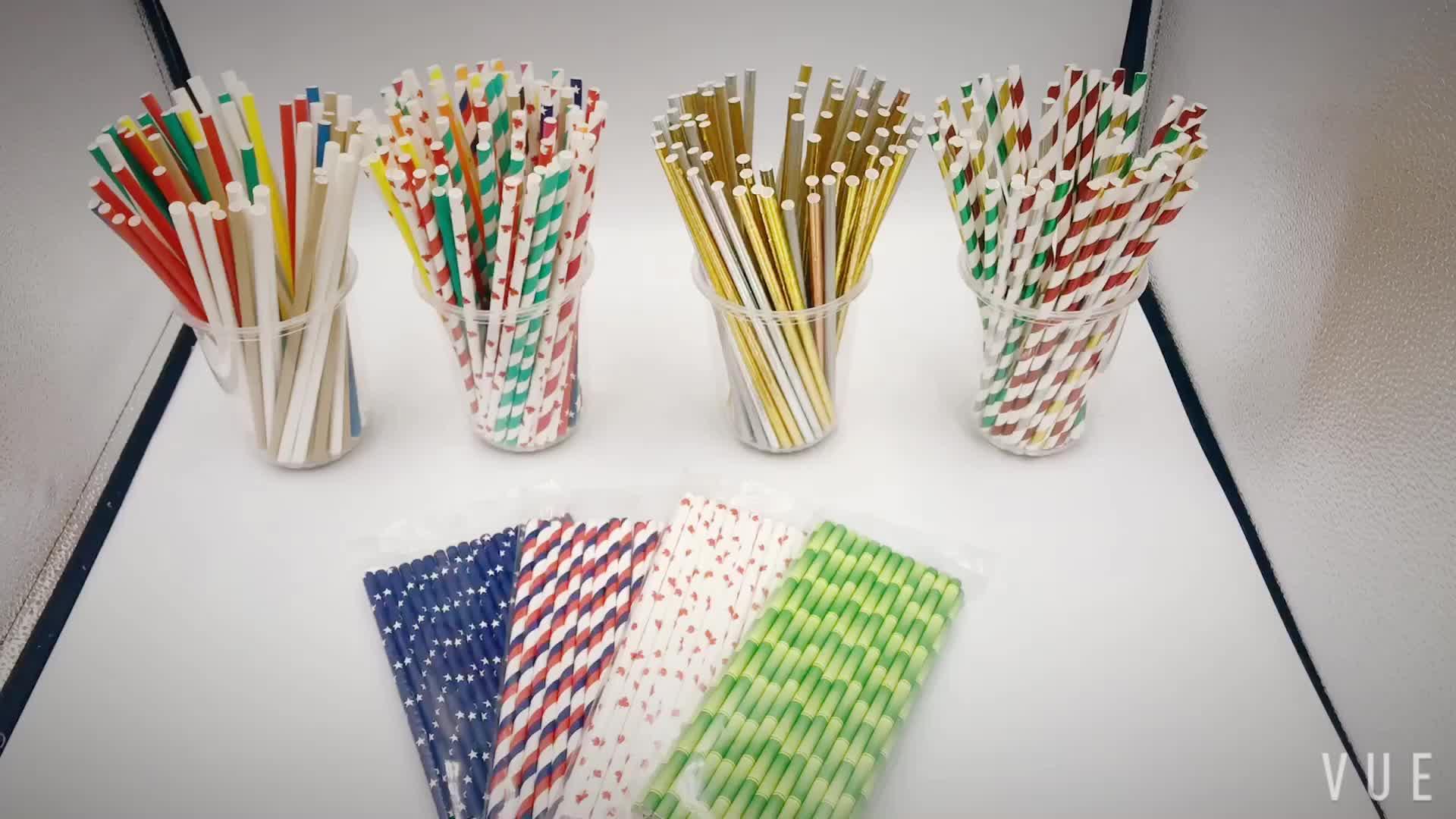 Fabriek prijs Bamboe papier stro aangepaste logo en Milieuvriendelijk 100% Biologisch Afbreekbaar geen plastic drinken papier stro