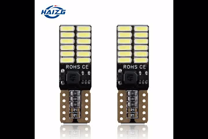 Ce Rohs Hoge Helderheid Auto Led T10 Canbus W5W 4014 24SMD Led Auto T10 Led Lampen Voor Reverse Lights Parking verlichting Interieur
