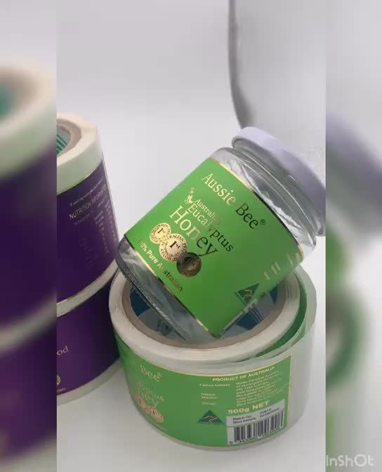 Custom Sticker Paper Printing Adhesive BBQ Bottle Packaging Labels