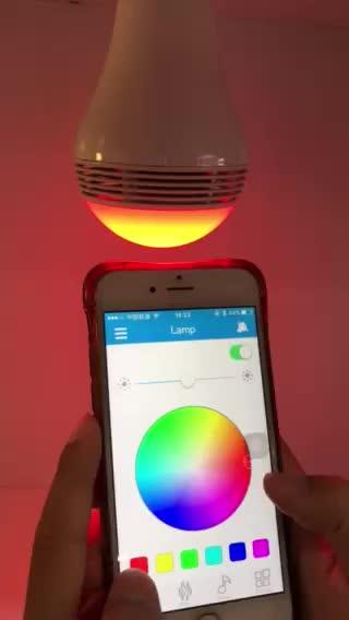 Smart Led Lamp met Bluetooth 4.0 Speaker, E27 Dimbare Veelkleurige Kleur Veranderende Led-verlichting