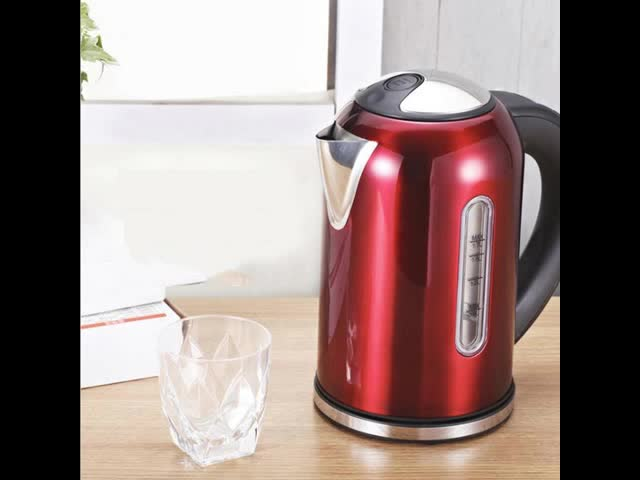 Factory wholesale portable food grade red electric kettle thermostat