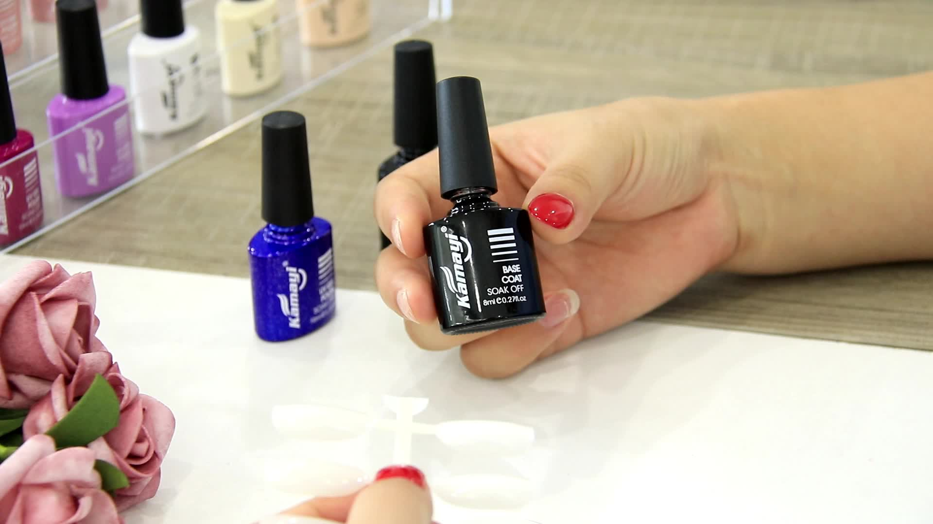 Kamayi Guangzhou  factory  high quality   non-tixic popular dull-red  gel nail polish set with factory price