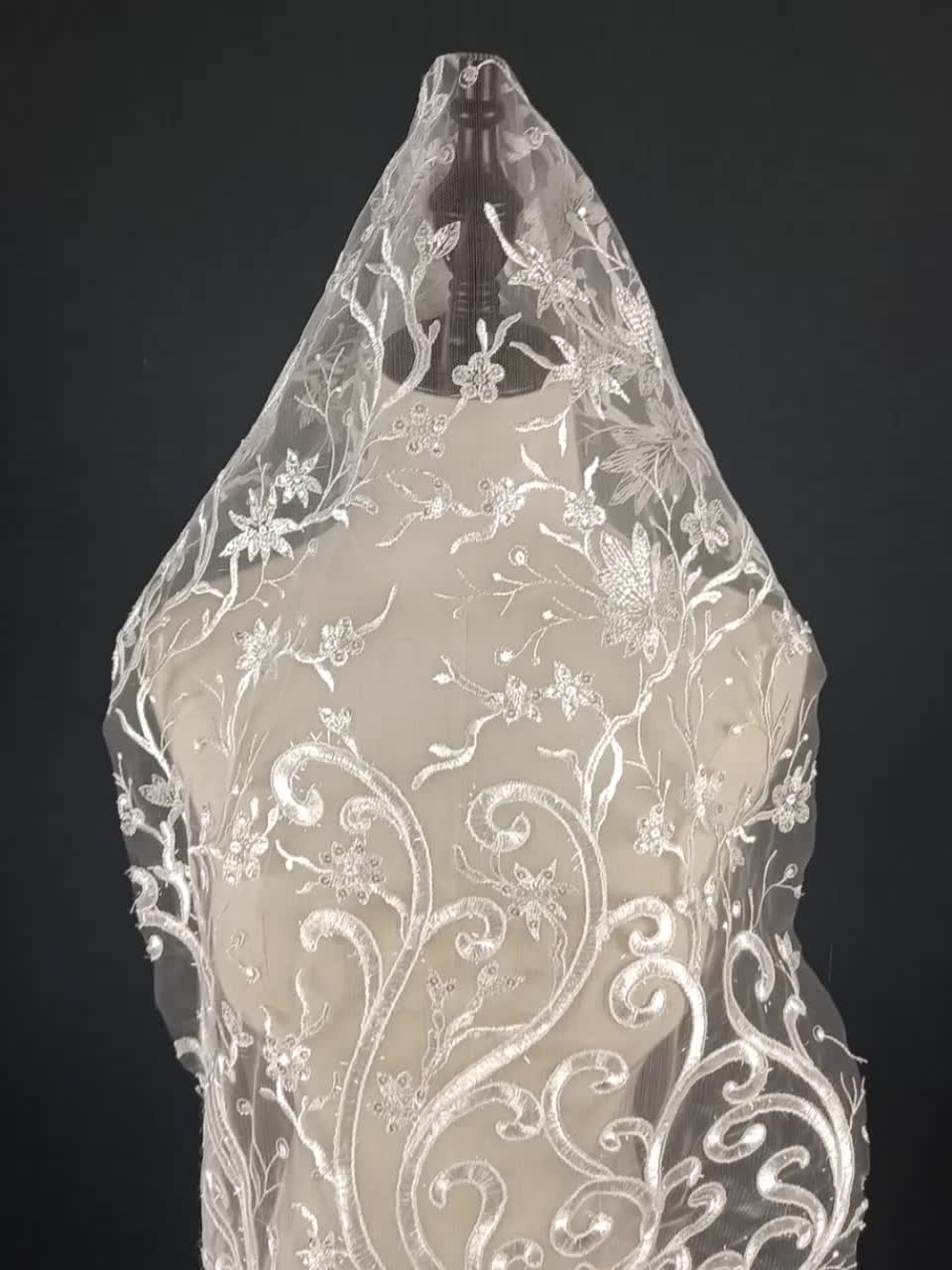 High Quality Clothing Accessories Embroidered Lace Fabric For Wedding