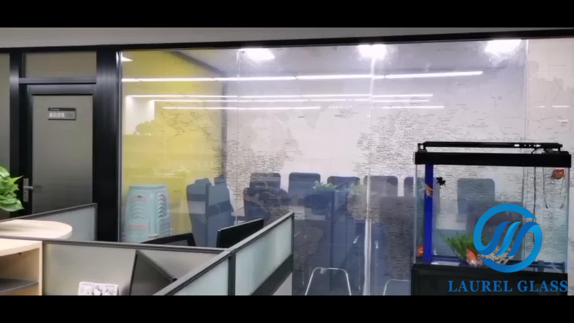 แก้วตกแต่งสมาร์ท Energy ผนังกั้นกระจก