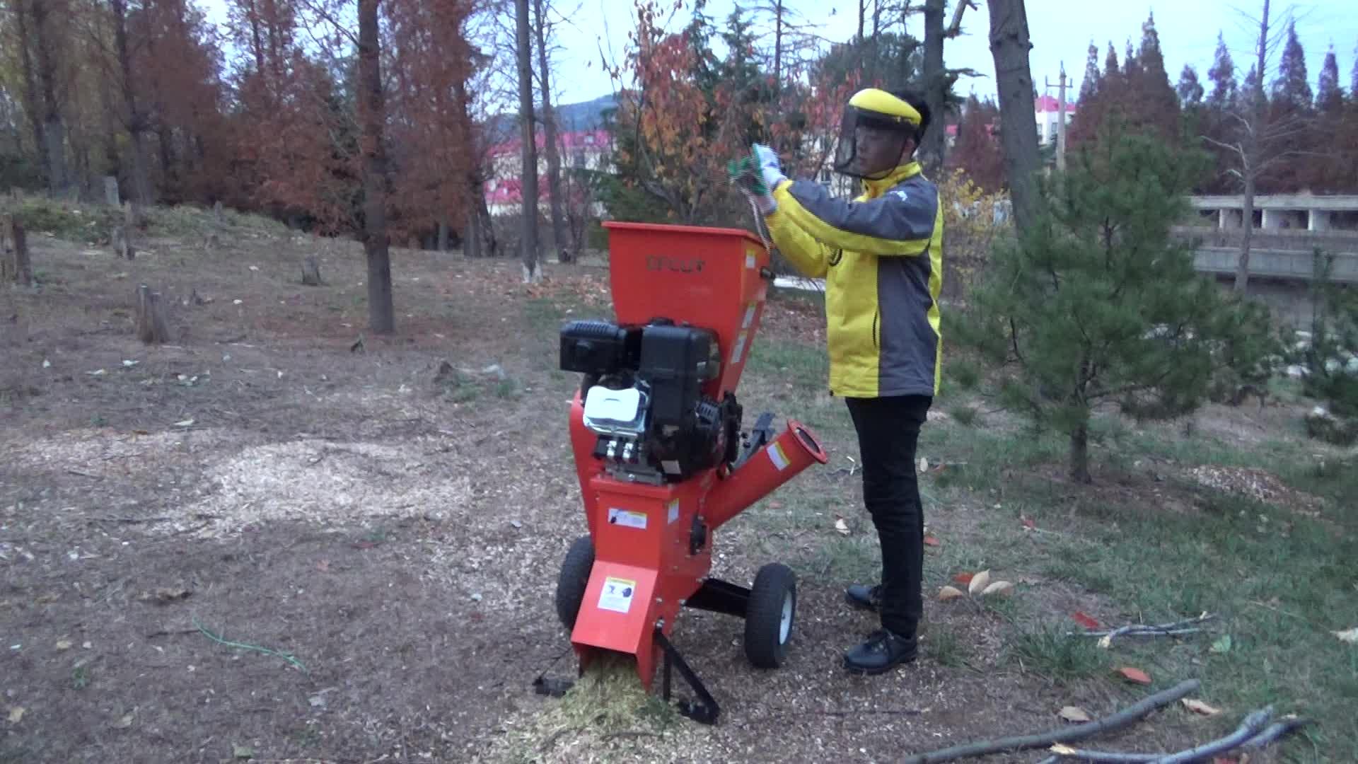 EFCUT 15HP लकड़ी के टुकड़े करने तकलीफ बिजली के शुरू पेट्रोल इंजन के साथ लकड़ी के टुकड़े