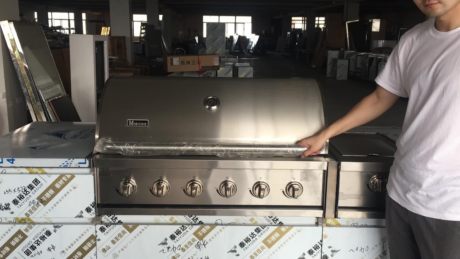2020 esterna In Acciaio Inox BARBECUE Grill A Gas Da Cucina Armadi con Rullo