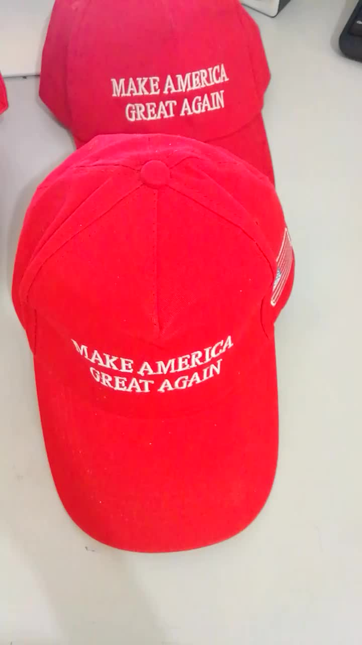 Embroidery Donald Trump Hat Make America Great Again Adjustable Cotton  Daddy Dad Baseball Cap f7cd96943e18
