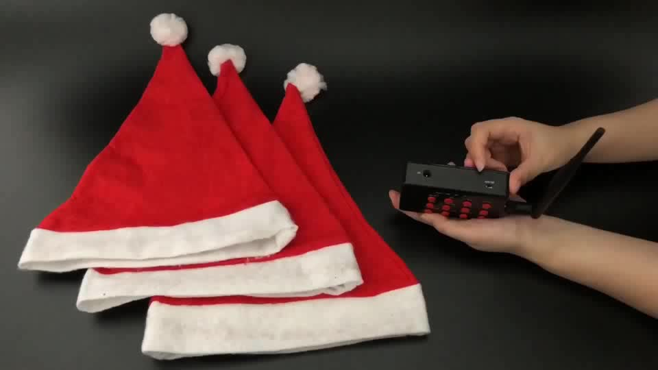 Remote Controlled Led Santa Claus Hat/ Led Christmas Hat