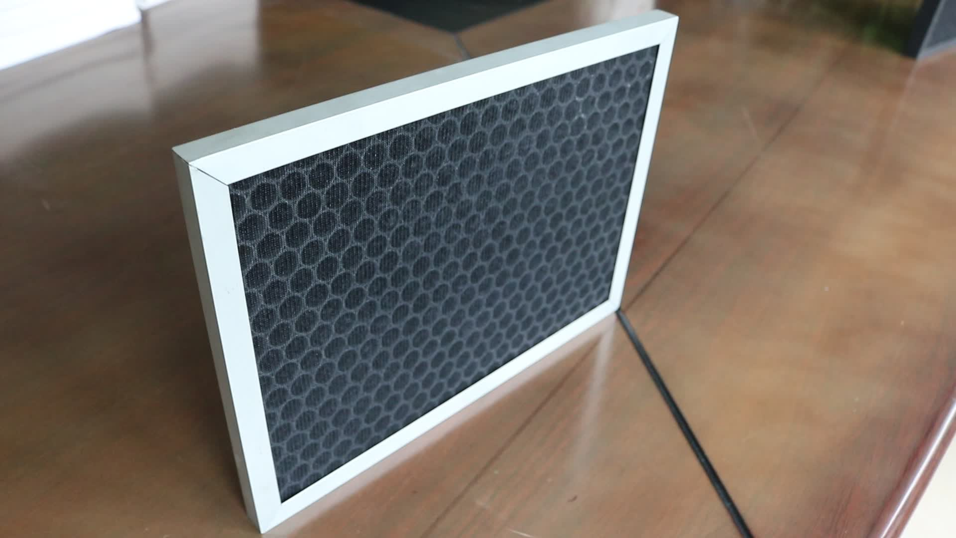 Air Conditioner Pre Filter Panel Type Active Carbon Filter Cotton Activated Carbon Filter Mesh