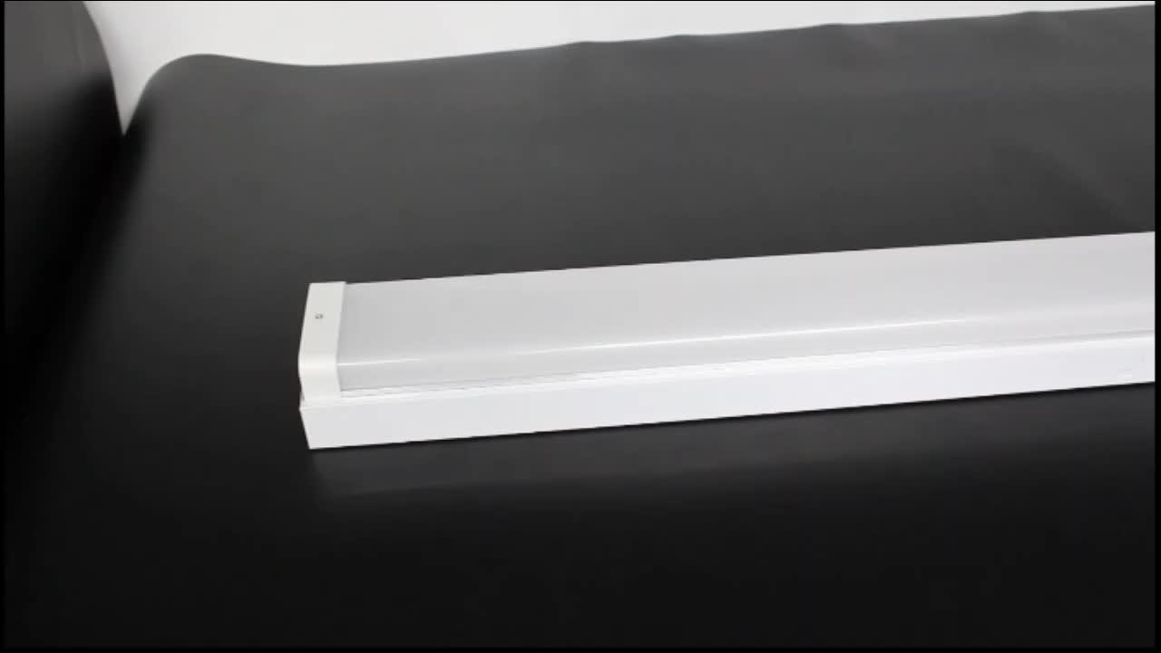 Hot Sale Panjang Rentang Hidup Dimmable4ft 8ft 40 W Aluminium Lampu Batten Cara Hall Dipimpin Perlengkapan Pencahayaan