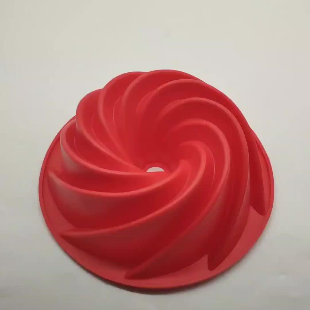 Benhaida Shenzhen Spiraal Vorm Brood Bakken Pan Silicone Cake Pan Mold