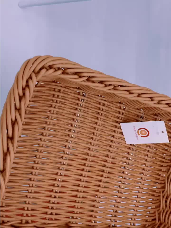 Special popular style handmade square  weaving wicker shop fruit basket