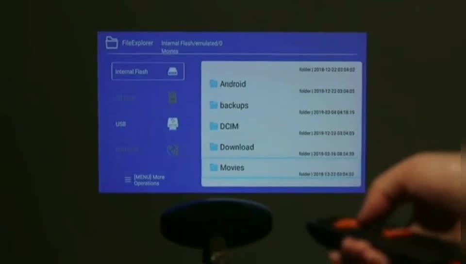 Heißer Projektor 4k Tragbare Android Mini Smart Tasche Projektor Heimkino DLP Mobile Projektor
