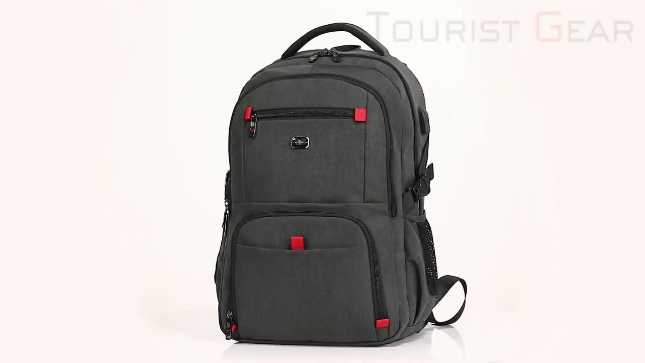 Promotional private label usb laptop computer bag waterproof backpack