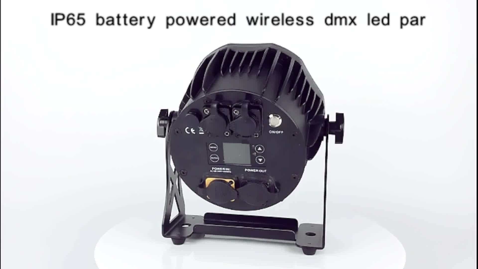 Fase di illuminazione attrezzature 6pars ricaricabile caso di volo con 6pcs 10W IP65 wireless batteria DMX dj par luci led