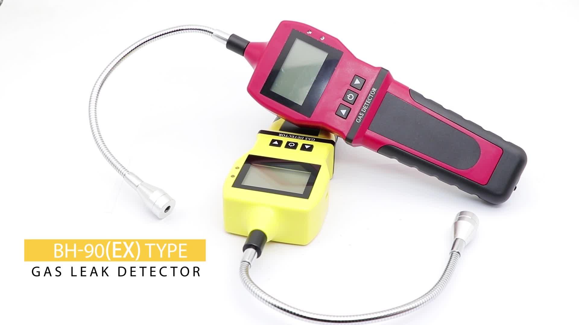 Tragbare 4 in 1 sauerstoff leck detektor mit schwanenhals