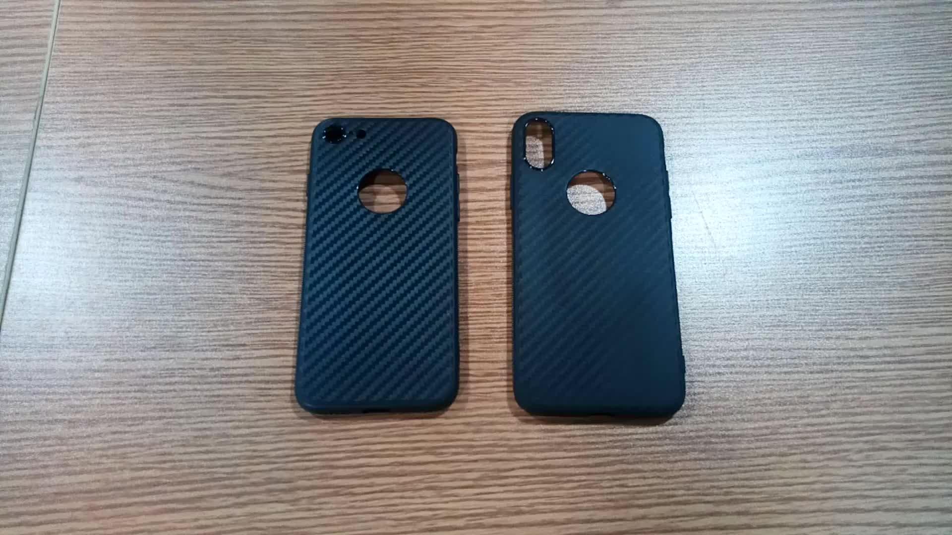 Antislip Edge Grip Carbon Fiber Grin Soft TPU Bumper Phone Case For Samsung Galaxy A40