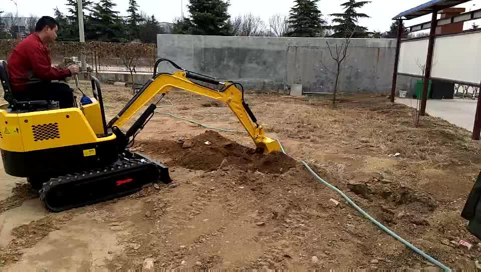 1ตันมินิก๊าซเครื่องยนต์ล้อราคารถขุดรถขุดสำหรับสวนก่อสร้าง