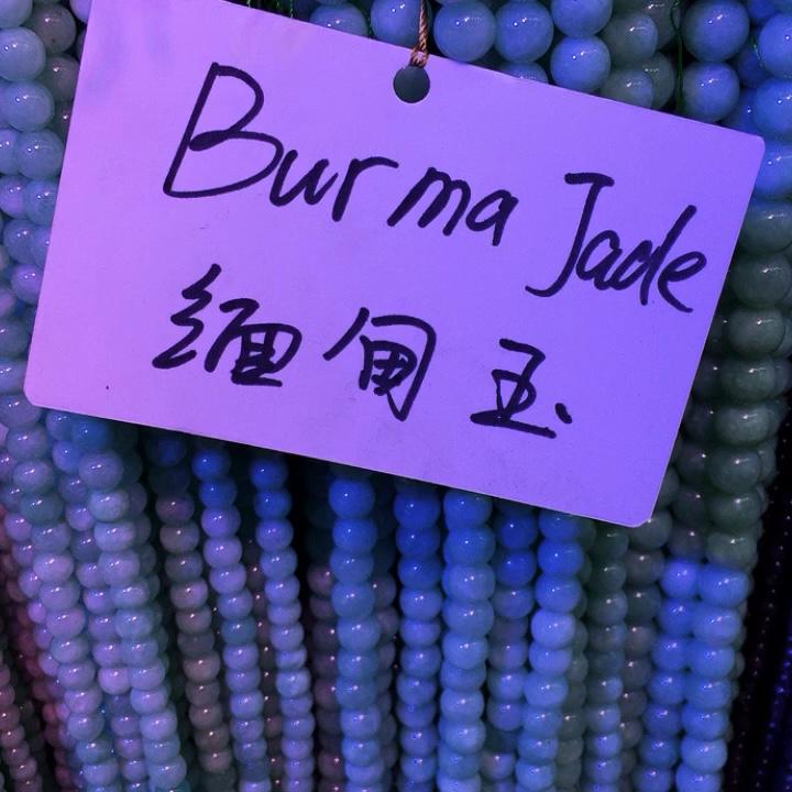 EEN Grade Natuurlijke Birma Jade Kralen Edelsteen Natuursteen Kralen voor Armband Fijne Jade Sieraden Vrouw Geschenken Power Healing Energie