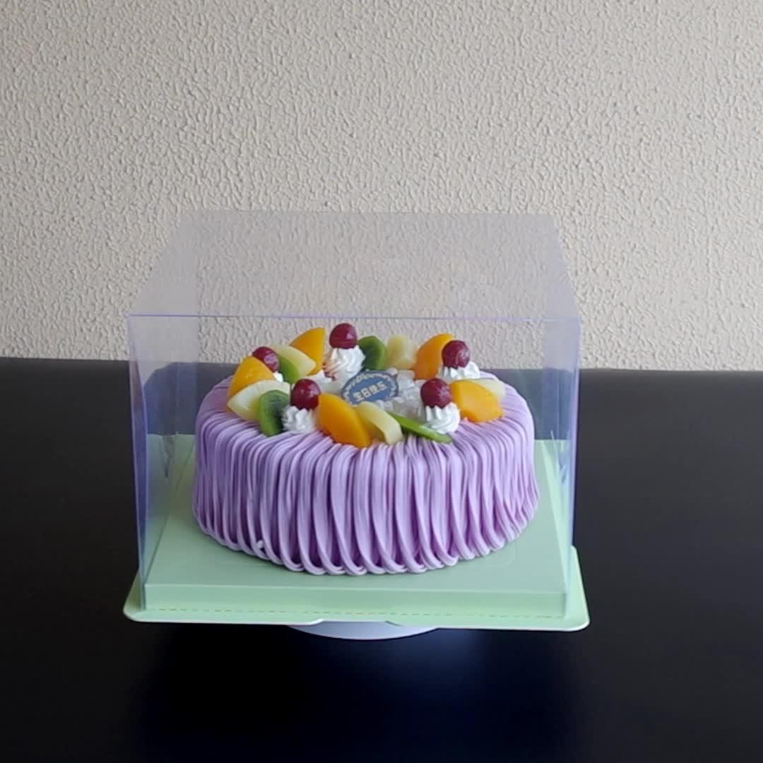 2020 מאוד קל להרכיב חד פעמי ברור תיבת עבור מזון עוגת פרח Engangsklar תיבת 2 חלקים ב 1 עוגת תיבה עבור מתנה