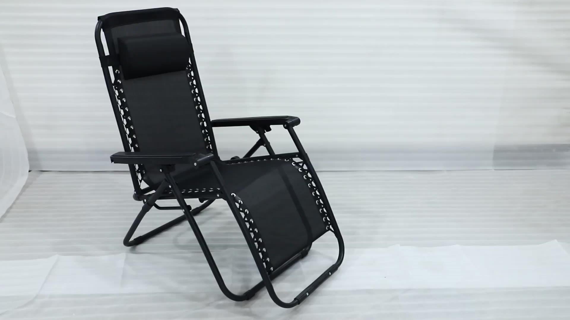 Beste Stahl Klapp Liegenden Angeln Strand Lounge Stühle Schwerelosigkeit Stuhl