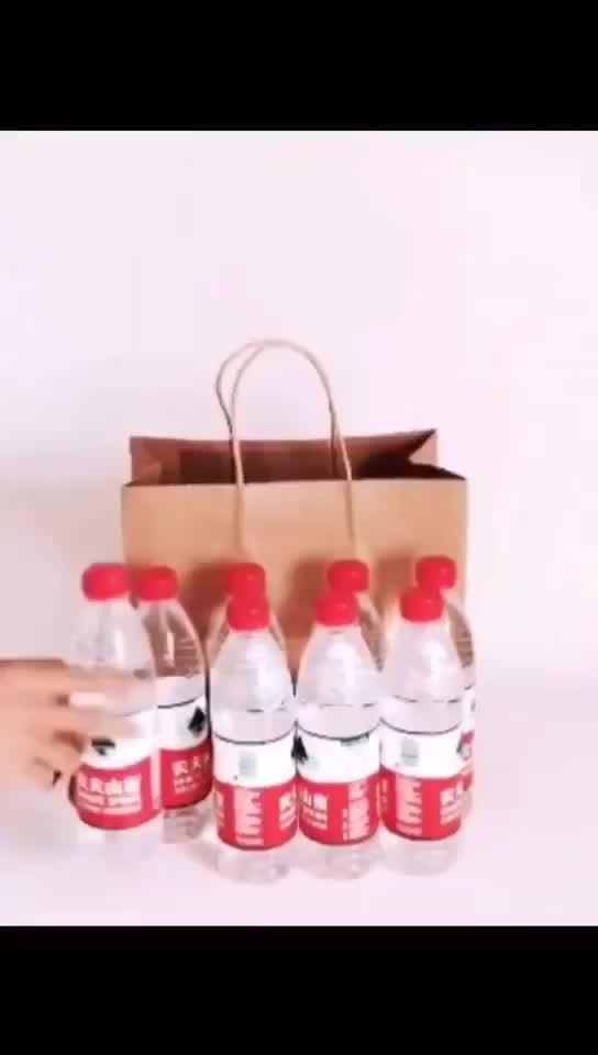 Дешевый переработанный Твист Ручка Campany логотип печать Коричневый Крафт бумажный мешок