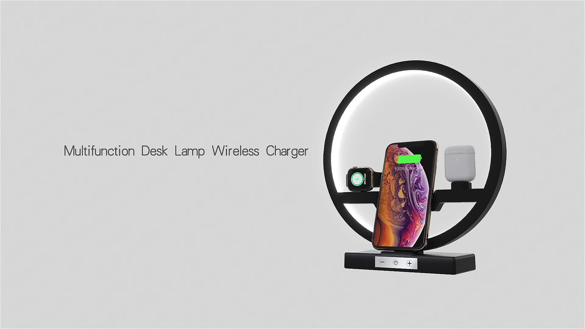 2019 New Arrivals QI 10W Fast Charger Wireless stand dock 3 in 1 Wireless Charger For Mobile Phones for apple watch for airpods