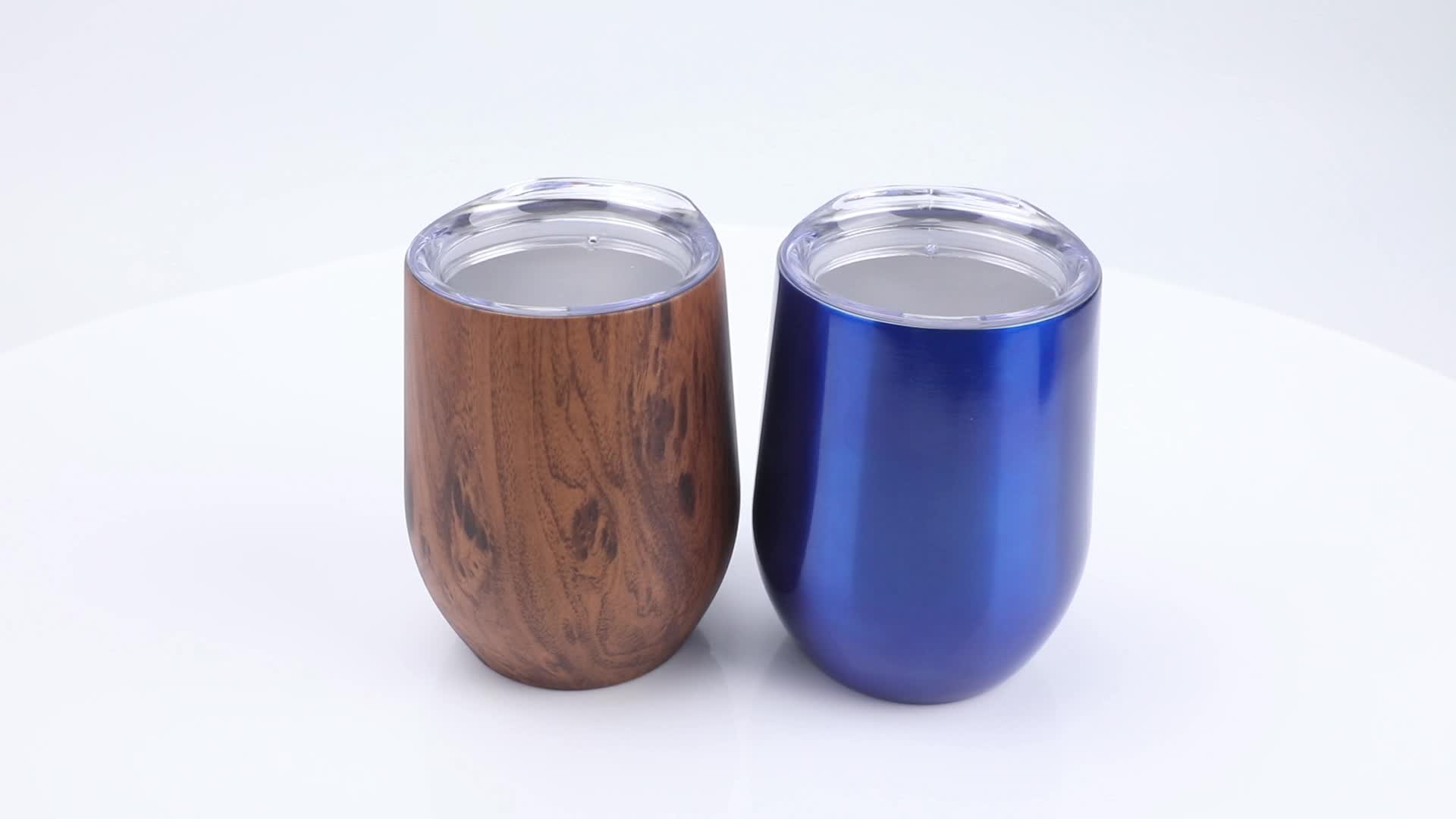 Beauchy 8oz/12oz Egg double wall stainless steel wine tumbler