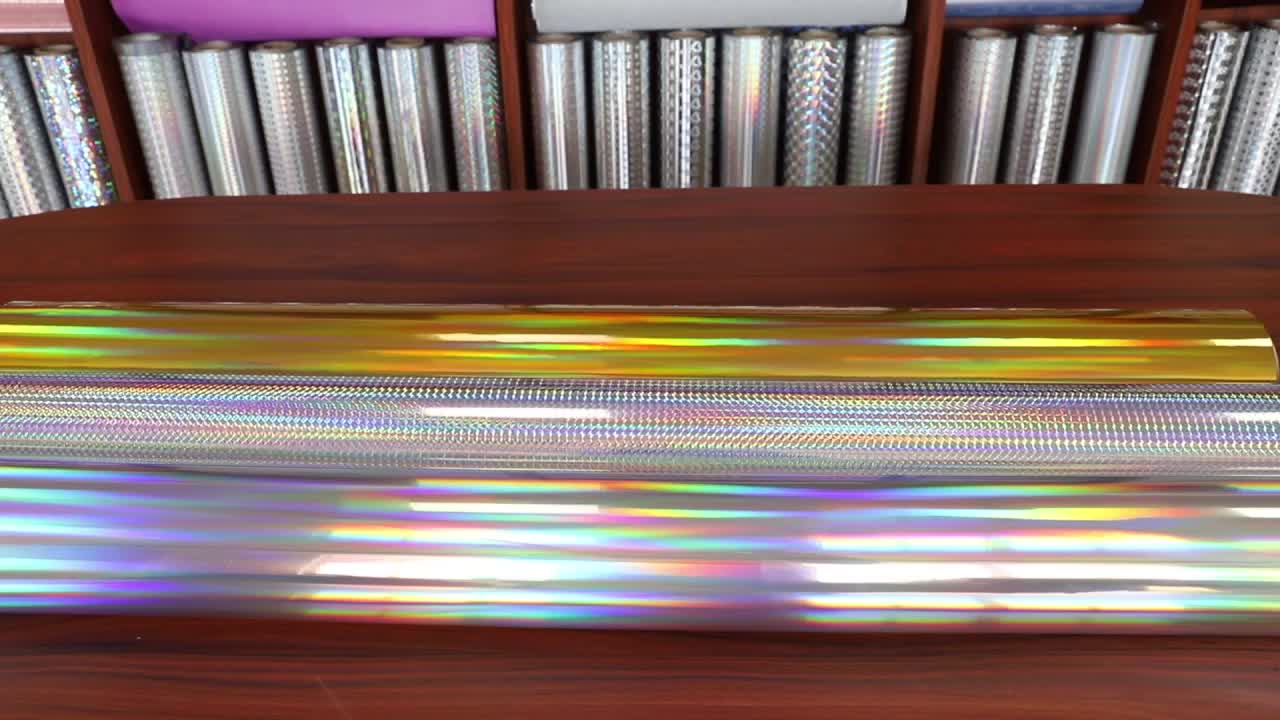 Wax Width 1800 mm commonly hologram pattern BOPP Holographic transparent lamination film