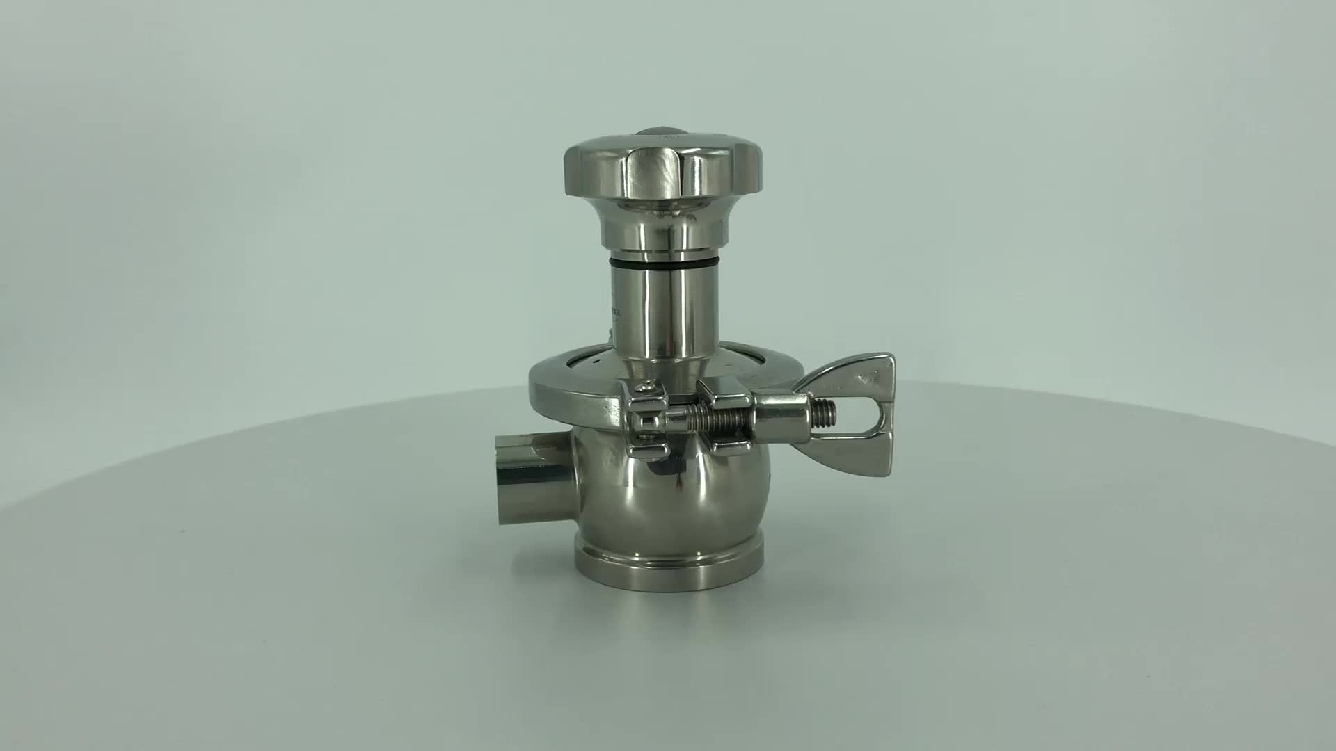 316L Sanitary diaphragm valve bottom tank valve pneumatic tank bottom radial diaphragm valve for pharmacy