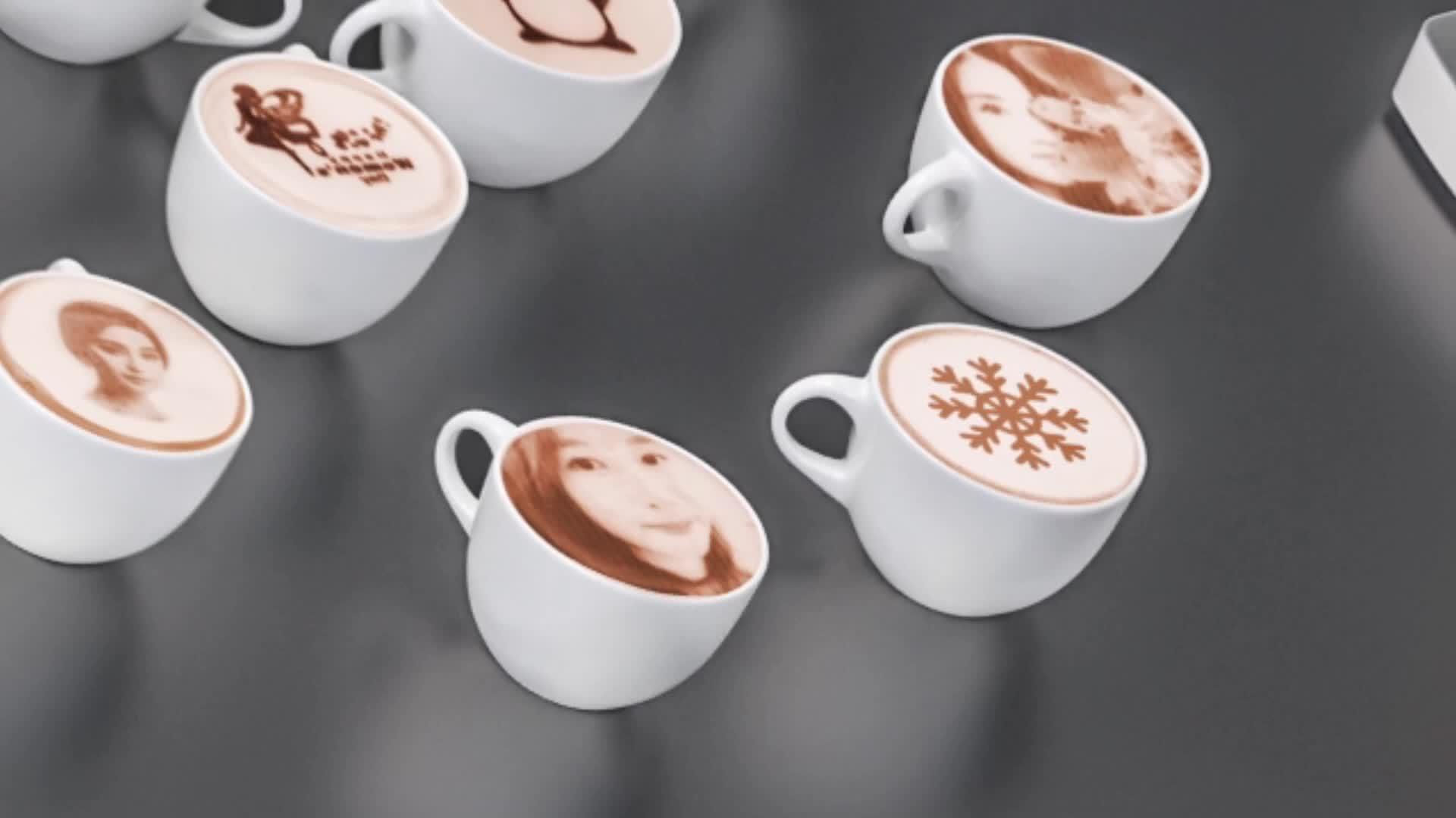 มืออาชีพราคาถูกเอดดัลไวส์ภาพ 3D อาหารเครื่องดื่มช็อกโกแลต LATTE Art Drawing กาแฟเครื่องพิมพ์สำหรับเค้กขาย
