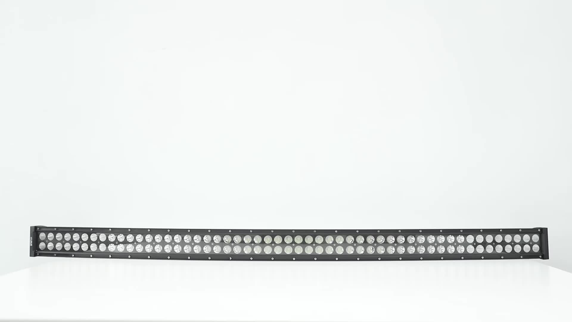 Super Bright 12V LED Offroad Driving Light 300W 50 นิ้วโค้ง LED Light Bar